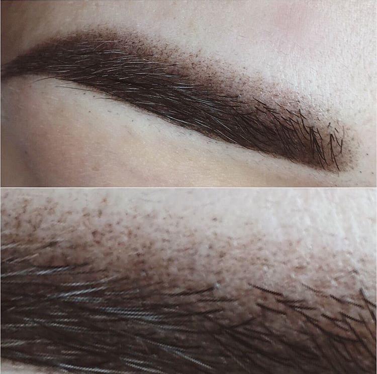 Перманентный макияж бровей с пудровым эффектом6